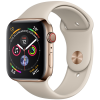 Apple Watch Series 4 44mm (MTV72) GPS + Cellular Gold Stainless Steel Case with Stone Sport Band (No Box)