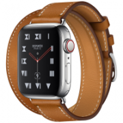 Apple Watch Hermès Series 4 40mmStainless Steel Case with Fauve Barenia Leather Double Tour