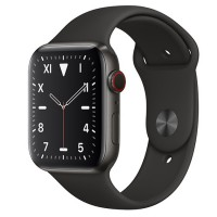 Apple Watch Edition 44mm GPS + Cellular Space Black Titanium Case with Space Gray Sport Band