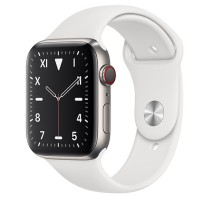 Apple Watch Edition 44mm GPS + Cellular Titanium Case with White Sport Band