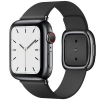 Apple Watch Series 5 40mm (MWPY2) GPS + Cellular Space Black Stainless Steel Case with Black Modern Buckle
