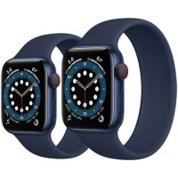 Apple Watch Series 6 44mm GPS + Cellular Aluminum Case with Solo Loop
