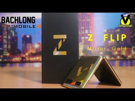 VChannel unbox: Galaxy Z Flip Gold